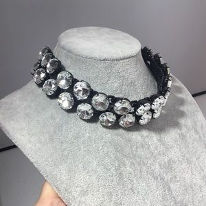Dual Chain Link Crystal Necklace